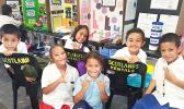 Young scientists from the Elementary Division (K-8) representing local and private schools
