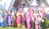 Miss Samoa contestants and supporters