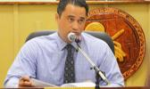 ASG Task Force chairman, Attorney General Talauega Eleasalo Ale, is pushing for the passage of an administration bill that updates the local tax table, saying it will benefit local taxpayers.  [photo: AF]