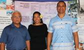 [l-r] Department of Marine and Wildlife Resources director Va'amua Henry Sesepasasra along with Christinna Lutu-Sanchez and Taotasi Archie Soliai, are American Samoa's three members of the Western Pacific Regional Fishery Management Council (WPRFMC) pictured last Friday in Honolulu on the final day of the three-day 172nd Meeting of the Council. Samoa News was able to follow the 3-day meeting via live-stream and is reporting the issues throughout the week. [photo: WPRFMC]