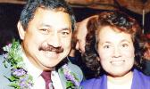 Congressman Eni Faleomavaega and Congresswoman Aumua Amata in Washington, D.C. in the 1980s. Read story below for details of the measure to officially name the Department of Veterans Affairs outpatient clinic in American Samoa after the late former Congressman Faleomavaega.  [Courtesy photo]