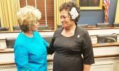 Amata and Administrator Linda McMahon  [Courtesy photo]