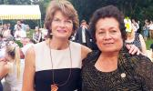 Aumua Amata with her friend, Sen. Lisa Murkowski (AL), who chairs the Senate Energy and Natural Resources Committee. [courtesy photo]