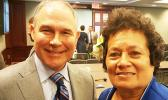 Congresswoman Amata with EPA Administrator Scott Pruitt at the U.S. Capitol.  [photo: courtesy]