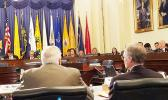 Amata and Committee Members hear testimony on reducing homelessness among veterans. [courtesy photo]