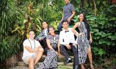 Ammon Fepuleai, Math teacher at Samoana High School – during a photoshoot with some of his talented students who worked with him, and graduated — Class of 2016.  See story below. [courtesy photo]