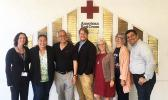 Mrs. Bella Asiata (second from left) and other Red Cross officials at the San Diego Chapter of the American Red Cross.  [photo: Red Cross]