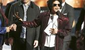 """ts the award for song of the year for """"That's What I Like"""" at the 60th annual Grammy Awards at Madison Square Garden on Sunday, Jan. 28, 2018, in New York. (Photo by Matt Sayles/Invision/AP)"""