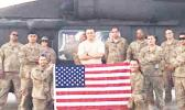Captain Talavou Avegalio (center) at his last deployment in the Middle East. Last month, Capt. Avegalio assumed command of Detachment 1, Alpha Company 3rd of the 140th Aviation in Hilo, HI.  [photo: courtesy]
