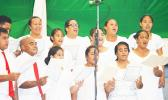 CCCAS Afono choir perform Sunday night at the Fagatogo Pavilion during the first night of the 39th annual Holiday Music Festival hosted by the American Samoa Council on Arts, Culture & Humanities and the Department of Youth and Women's Affairs. Tonight is the last night of the holiday event.  [photo: AF]