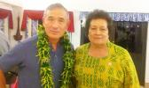 Congresswoman Amata and Pac Com Commander Admiral Harry B. Harris Jr.  [Courtesy photo]