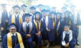 Graduates of South Pacific Academy's Class of 2017 smiling for the Samoa News camera minutes before they were presented their high school diplomas last Saturday. [photo: Blue Chen-Fruean]