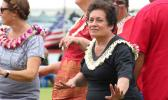 Congresswoman Aumua Amata at the 2015 Flag Day celebration. [SN file photo]