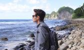 Conor Knighton at the southernmost U.S. National Park -- in American Samoa. [photo: CBS News]