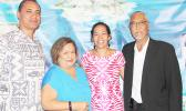 At the Western Pacific Regional Fishery Management Council's Fishers Forum on data collection programs held Wednesday night in Honolulu: (l-r) American Samoa Council Member Archie Soliai, Council Executive Director Kitty M. Simonds, American Samoa Council Member Christinna Lutu-Sanchez and Council Chair Edwin A. Ebisui Jr. [photo: WestPac Council]