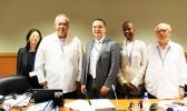 ASG's Office of Political Status, Constitution and Federal Relations executive director Tapa'au Dr. Daniel Aga (second from left) pictured with top officials representing China, Russia, Guyana and Chile sitting on the board of the United Nation Special Committee on Decolonization, at this week's 2017 Caribbean Regional Seminar hosted by St. Vincent and the Grenadines in May 2017. [photo: UN]
