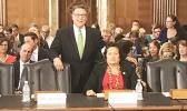 Congresswoman Amata and Assistant Secretary of Insular Areas Nominee Doug Domenech prior to the confirmation hearing.  [Courtesy photo]