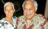 The late Congressman Faleomavaega Eni Hunkin and his wife Hinanui Hunkin. [SN file photo]