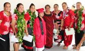 A Special Education student from Faga'itua HS, surrounded by proud teachers and her mother yesterday during the Vikings Class of 2017 commencement ceremony.  [photo:EM]