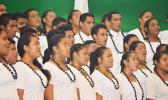 Fa'asao Marist High School choir perform Sunday night at the Fagatogo Pavilion during the first night of the 39th annual Holiday Music Festival hosted by the American Samoa Council on Arts, Culture & Humanities and the Department of Youth and Women's Affairs. Tonight is the last night of the holiday event.  [photo: AF]