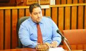 Newly confirmed Public Defender, Douglas Fiaui, during his House confirmation hearing last week where he was confirmed by faipule. He was confirmed by the Senate on Wednesday this week and has completed the confirmation process.  [photo: FS]