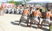 Malaeloa Methodist Group performing Saturday during the Hawaiki cable landing ceremony at the ASTCA compound at Tafuna. The group's Samoan dance performance mirrors the move of Hawaiki connecting its undersea fiber optic cable from American Samoa and the Pacific to the US.  [photo: FS]