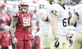 Washington State defensive lineman Daniel Ekuale (90) stands on the field during the second half of a September 2016 game against Idaho in Pullman. (Young Kwak / Associated Press)