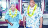 Incumbents Gov. Lolo Matalasi Moliga and Lt. Gov. Lemanu Peleti Mauga have won the 2016 gubernatorial race for a second four-year term in office, with 60.2% of the total votes counted. [Samoa News photo]