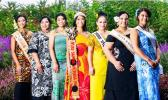 Pageant Contestants with reigning Miss Samoa Victoria Adele Faaosofia.
