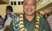 ASG Health director Motusa Tuileama Nua posed for a Samoa News photo at last Friday's closing of the three-day Bilateral Health Summit at the Gov. Rex Lee Auditorium.  [photo: AF]