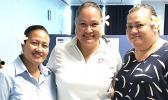 NPI General Manager, Joanne Rasmussen [middle] with NPI Samoa Managers, Faumuina Faalepo Solofa-Isitolo and Tumua Saueleele T. Ah Wong.  [photo: courtesy]
