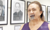 Ngatai Huata, daughter of Canon Wi Te Tau Huata, who says her father's song was basically colonized and bastardized by the Ministry of Education of NZ in the 1960s.  [photo: rnz]