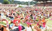 The Tahiti ukulele world record attempt.  (Photo: Supplied/ Présidence de la Polynésie française)
