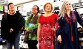 L-R Sia Figiel, Mere Taito, Karlo Mila and Janet Steele.  [photo: Ash Miles/Unity Books Wellington]