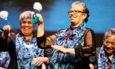 Performers from Nga Pakeke o Ngāti Awa at the Kaumātua Kapa haka event last year.  [Photo: RNZ/ Aaron Smale]