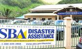 The US Small Business Administration banner in front of the Disaster Recovery Center located inside the DYWA Pago Pago Youth Center. The SBA, so far, has approved more than $1Mil in federal disaster loans to businesses and residents. See story for details.  [photo: SBA]