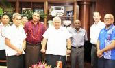 Samoa's Planning Committee for the Pacific Games led by Prime Minister Tuilaepa Lupesoliai Sailele Malielegaoi meets with the President and representatives from the Pacific Games Council.   [Courtesy photo]