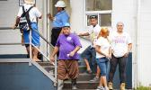 A look at some of Samoa Tuna Processors employees in front of the STP gate on Oct. 13, the same day its owner Tri Marine International announced the indefinite closure of STP effective Dec. 11. Rumors of Tri Marine selling its facility or at least parts of its facility are rampant, while the company has said STP will be maintained as a hub of its Pacific operations, while a final solution is sought. [photo: AF]