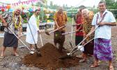 Health Minister Tuitama Dr. Talalelei Tuitama (far left) with chiefs from Satupaitea, Palauli le Falefa and Palauli I Sisifo [Photo: supplied]