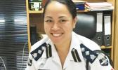 Monalisa Tia'i Nafo'i is the first woman to be appointed as deputy police chief in Samoa.  [photo: RNZI]