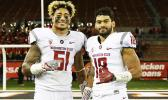 American Samoa's very own Frankie Luvu (#51) – a graduate of Tafuna High School and an American Samoa All-Star Player alongside teammate Shalom Luani (#18) who graduated from the Home of the Vikings. Both sons of American Samoa are starters for WSU's defensive lineup.  [courtesy photo]