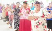 Some of the senior citizens of TAOA enjoying doing the hula as their fitness workout yesterday morning at the TAOA compound in Pago Pago. One of TAOA's focus is health to help promote the importance of living healthy and staying active. [photo: Ese Malala]