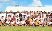 "Tafuna High School's ""Warriors"" Football Program – both Varsity and Junior Varsity players who will be representing the Home of the Warriors in this years ASHSAA Football Season. [photo: TG]"