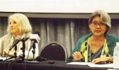 UN human rights experts Kamala Chandrakirana (R) Eleonora Zielinska (L)  [Photo: Autagavaia Tipi Autagavaia]