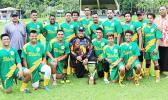 Utulei Youth team with the FFAS National Cup.  [FFAS MEDIA/Brian Vitolio]