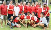 The new women's FFAS National Cup holders, the Tafuna Jets, after taking the hardware away from PanSa in a 1-0 win on Match Day 5 of the 2016 FFAS National League on Saturday, Sept. 17, at Pago Park Soccer Stadium.