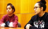 Senior global politics and comparative ethnic studies major Roanna Zackhras, left, and senior biology major Ula Pele say officials could promote diversity by visiting the Samoan community on campus. [ABBY LINNENKOHL   The Daily Evergreen]
