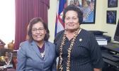 Congresswoman Aumua Amata with President Hilda Heine in the Congresswoman's Washington, D.C. office. [courtesy photo]