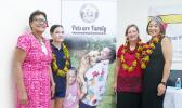 (L-R) Tu'u Fu'a Hazelman (APS Board Member), Aniva Clarke (Slogan Competition winner), Dr. Joan Macfarlene (APS Chairperson) and U.S. Embassy, Acting Chargé d'Affaires – Katelyn Choe