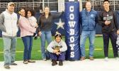 Samoana HS senior Darius McMoore and family at the Blue-Grey All-American Bowl Game last Tuesday